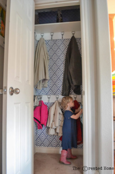 diy small hall coat closet makeover renovation