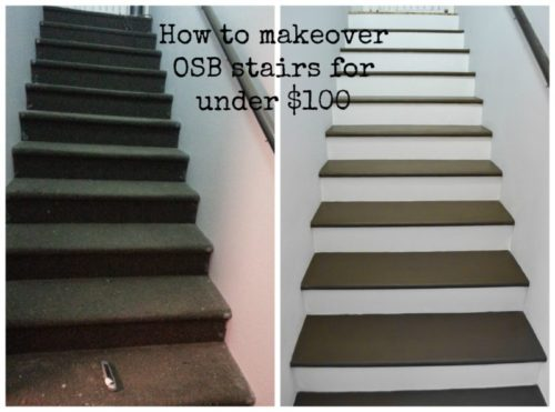 How to makeover OSB stairs cheaply