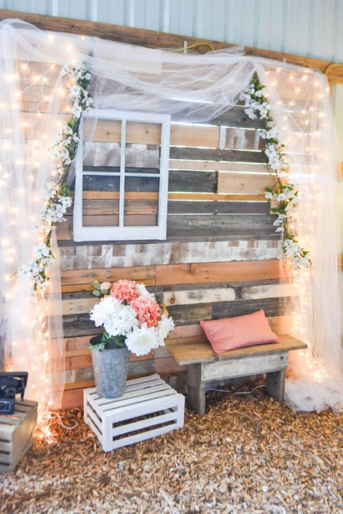 pallet backdrop