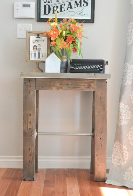 Entry Table from Reclaimed Wood