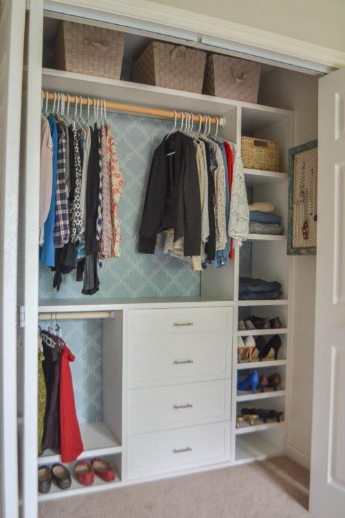 small closet system, reach in closet
