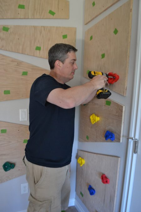diy climbing wall for kids