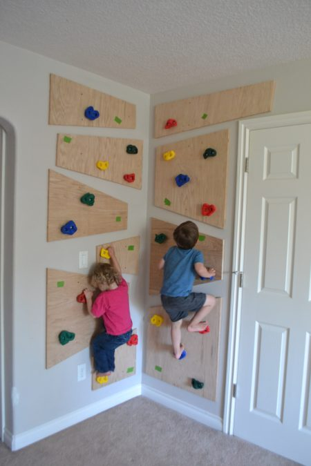 diy kids indoor climbing wall