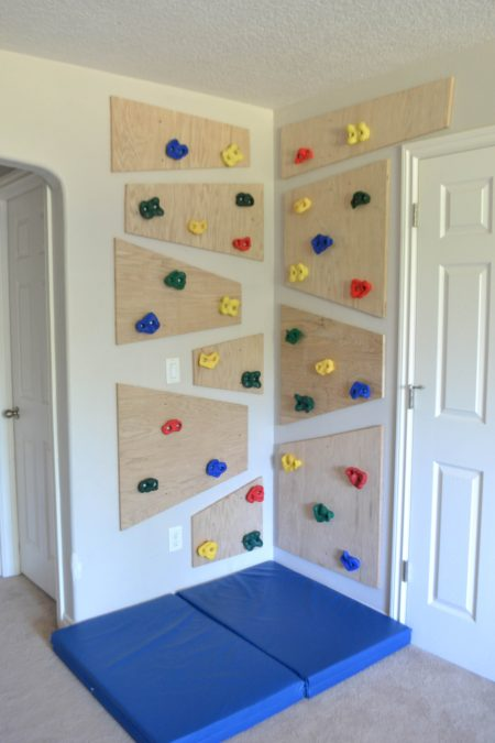 indoor climbing wall playroom diy kids