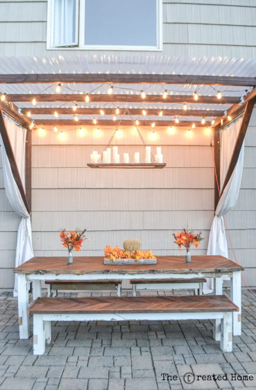 diy easy frugal pergola outdoor dining area table