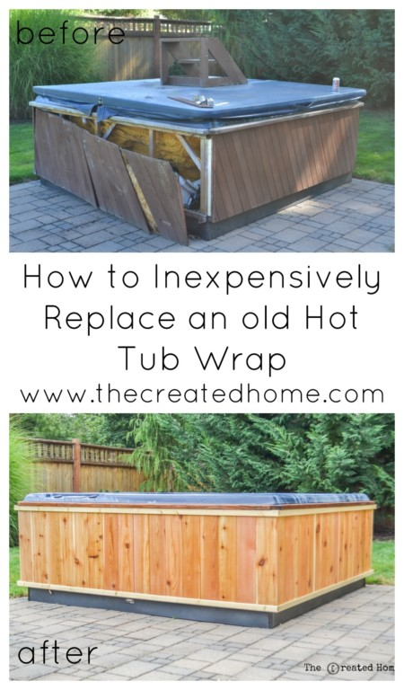 How to repair and restore a hot tub the created home for Cost to build shell of house