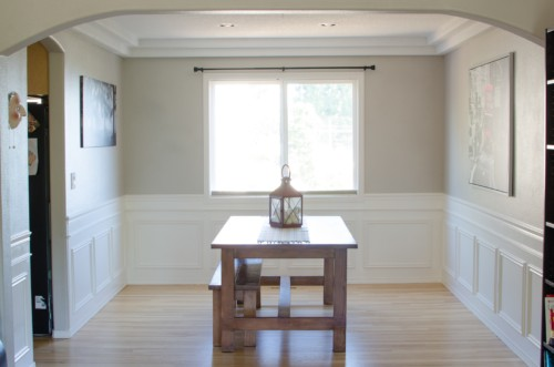 Genial Diy Wainscoting Wall Treatment Board And Batten Dining Room Makeover