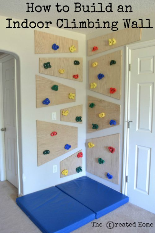 Do It Yourself Climbing Wall - The Created Home
