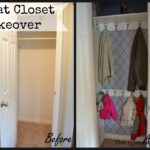 Small hall closet makeover