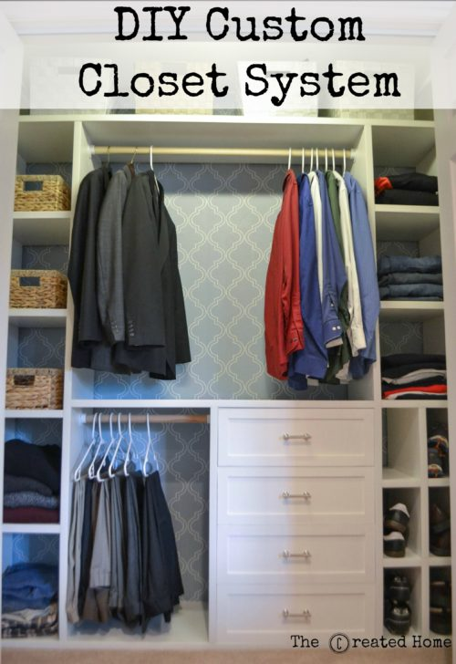 How To Build A Custom Closet For A Reach In The Created Home