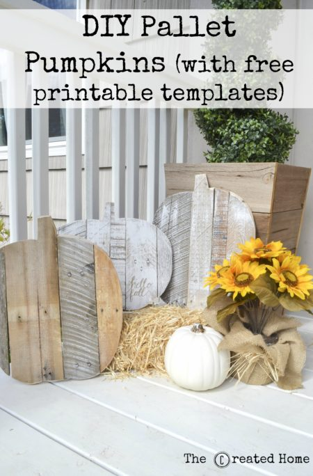 diy pallet pumpkins with free printable templates