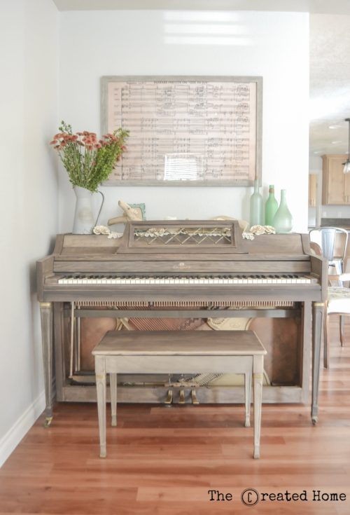 How to refinish a piano without paint the created home for How to place a piano in a room