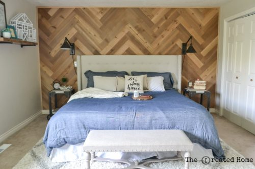 How To Diy A Herringbone Accent Wall The Created Home