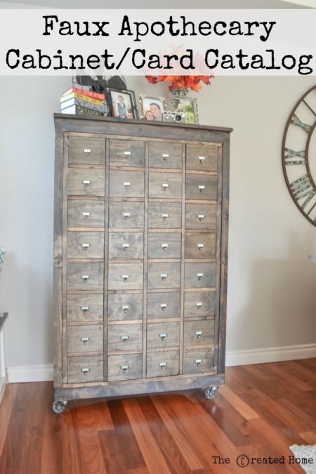 apothecary cabinet library catalog faux drawers