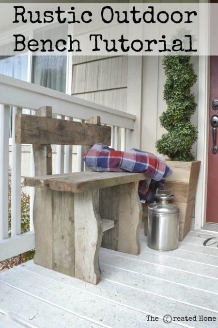 scrap wood projects - rustic outdoor bench