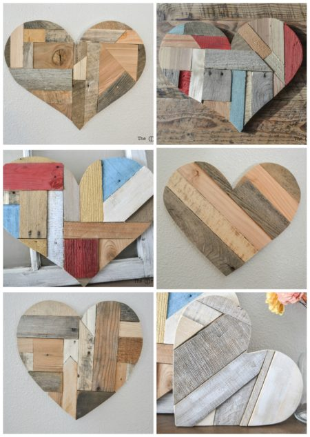 Quilted Wood Hearts The Created Home