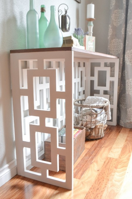 Fretwork Console lattice jen woodhouse the created home