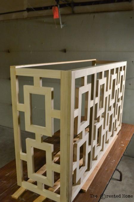 Fretwork Console lattice jen woodhouse the created home