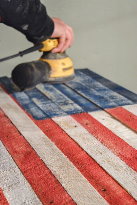 American US flag pallets pottery barn tutorial the created home