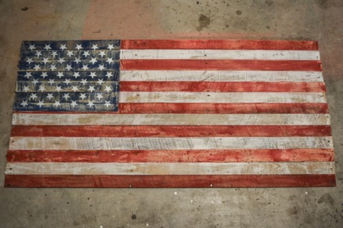 American Flag Made From Pallets The Created Home