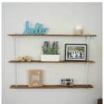 Easy DIY Wood and Metal Shelving Unit