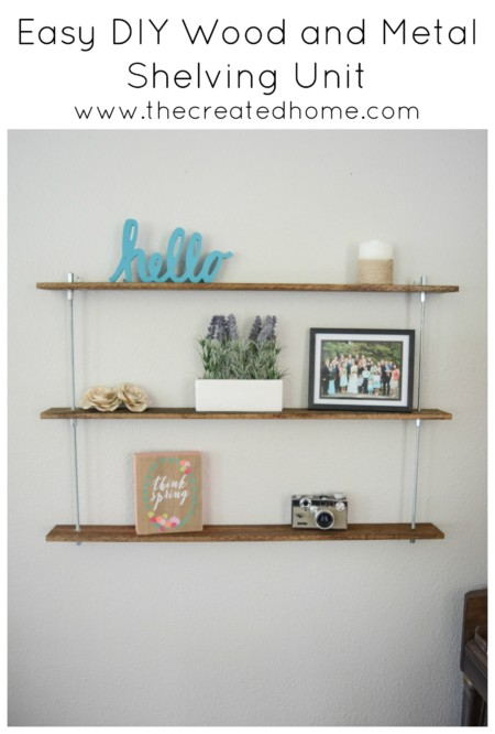 black and decker wood and metal shelving unit diy