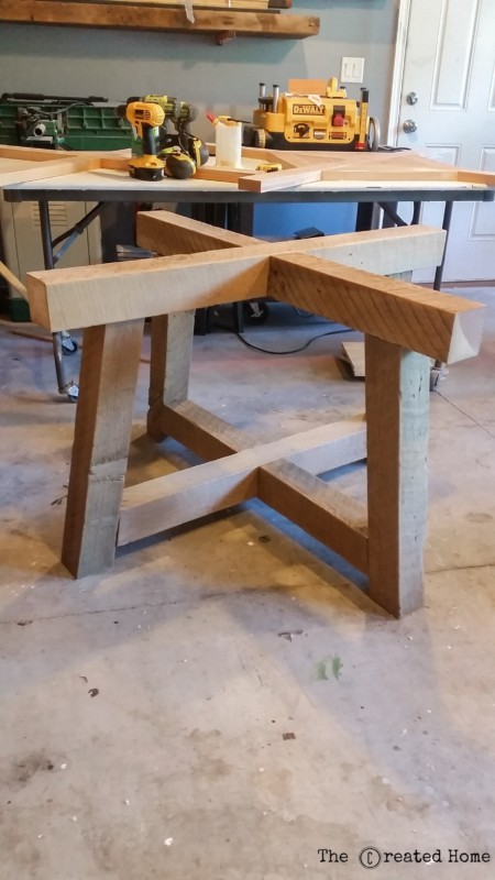 salvage beam round dining table reclaimed wood table base