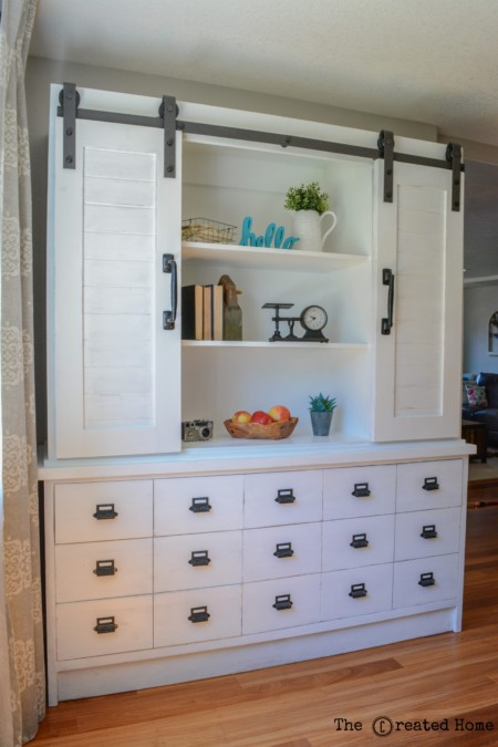 sliding barn door buffet and hutch fixer upper magnolia shiplap farmhouse diy