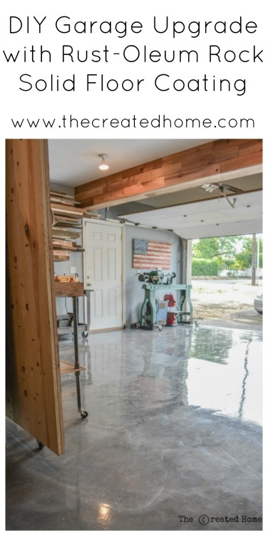 DIY Garage Upgrade with Rust-Oleum Rock Solid Floor Coating