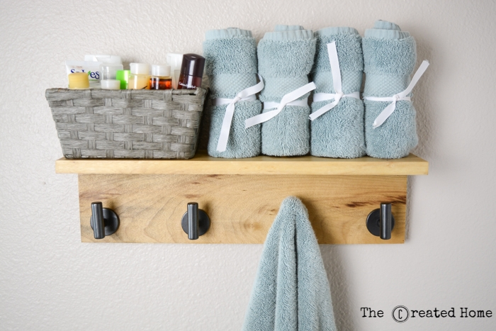 diy wood towel hook rack tutorial