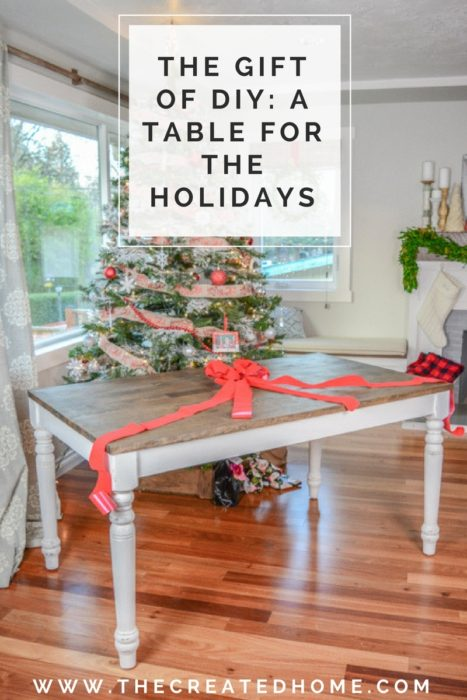 diy farmhouse table upcycle christmas