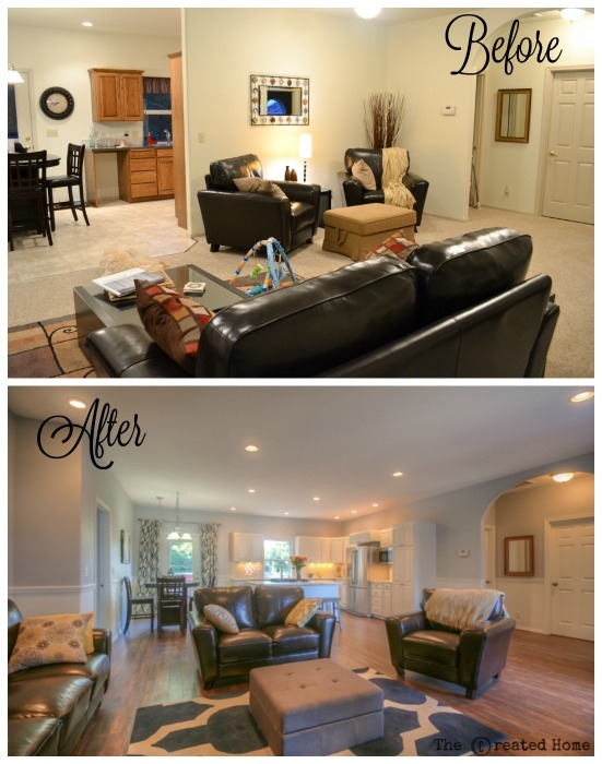 Before and After home remodel