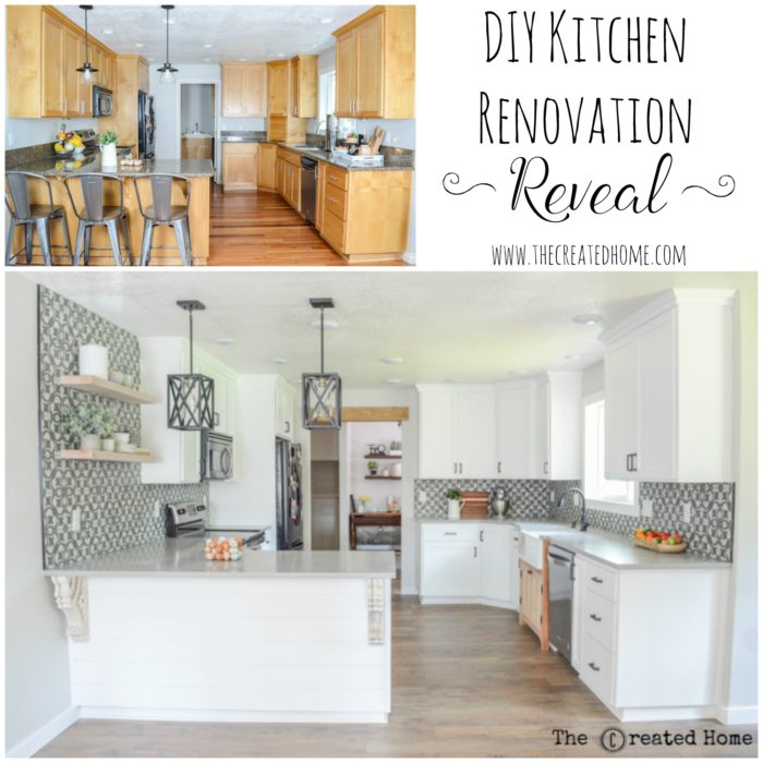 DIY Kitchen renovation reveal