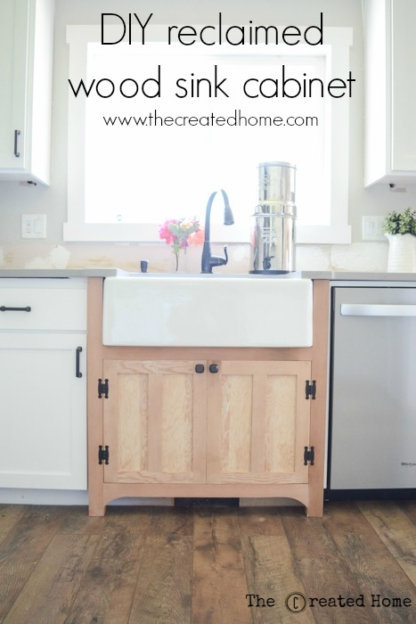How To Add Vintage Charm With A Diy Reclaimed Wood Sink Cabinet The Created Home