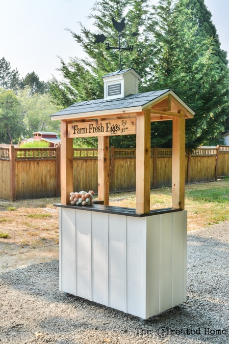 DIY Cape Cod Inspired Lemonade Stand with cupola farm eggs