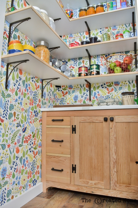 small walk in pantry wallpaper laundry area diy