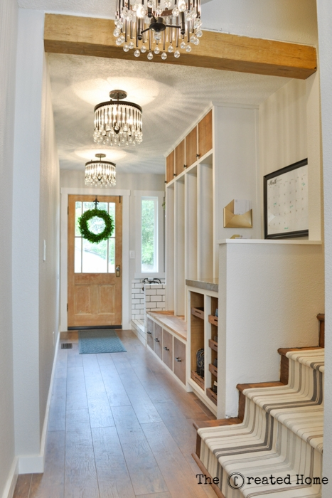 hallway mudroom dog bath renovation diy kichler piper