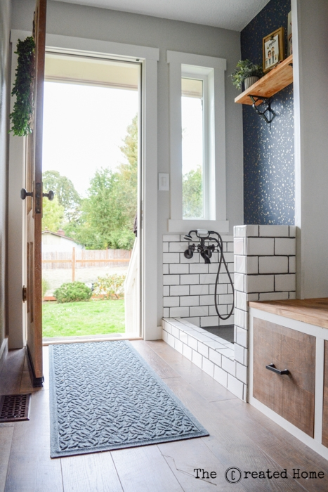 hallway mudroom dog bath renovation diy dog bath