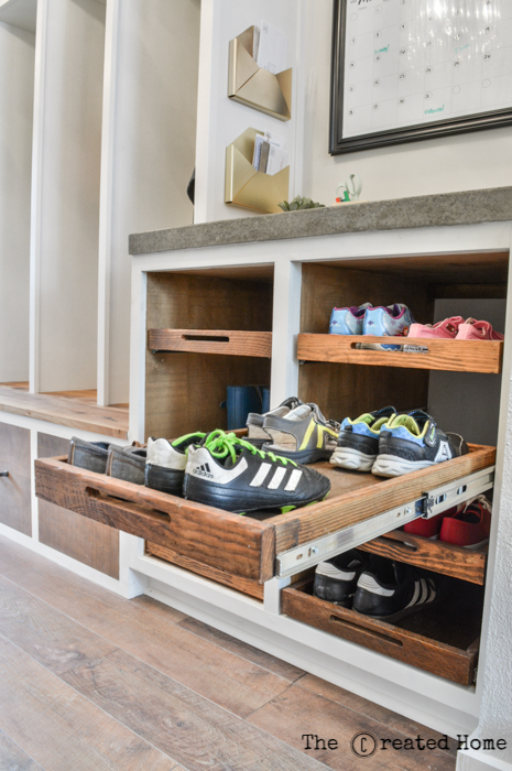 shoe cabinet with pull out trays