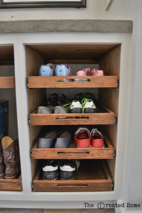 Shoe Storage Cabinet With Trays The Created Home