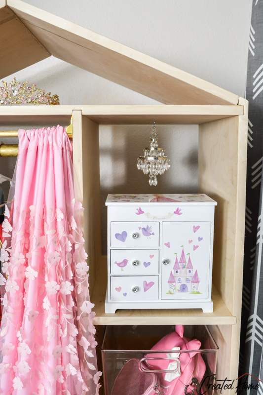 Mini chandelier dress up wardrobe