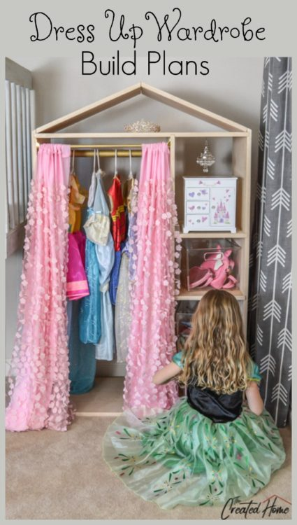 DIY House Shaped Dress Up Wardrobe build plans