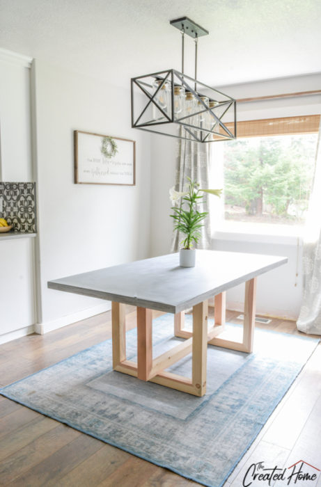 concrete and wood geometric collection concrete dining table
