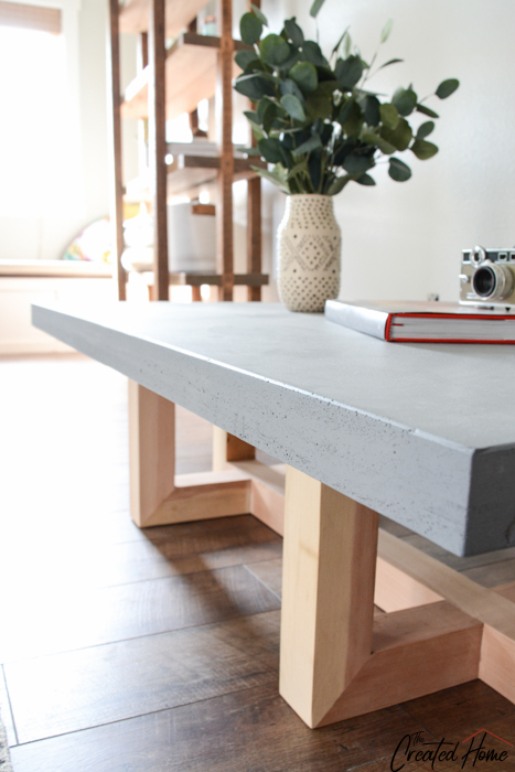 Concrete and Wood Geometric Collection: The Coffee Table