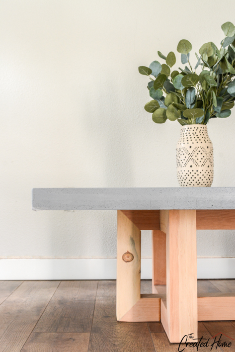 Concrete and Wood Geometric Coffee Table tutorial