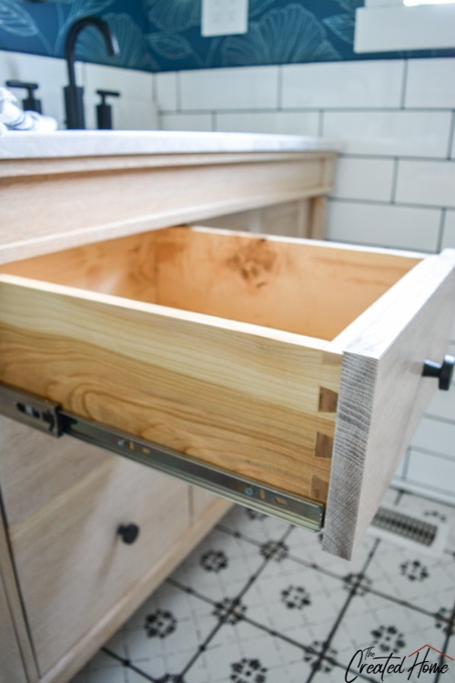hand cut dovetail drawer boxes