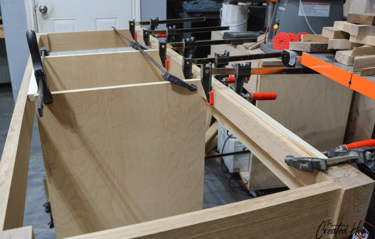 attaching backer board to ledge front